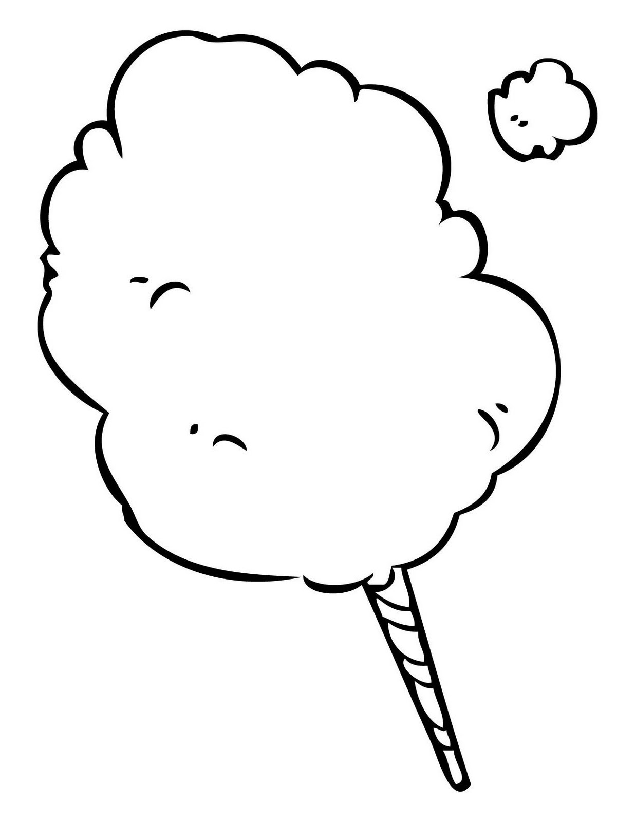 1236x1600 Cotton Candy Drawing White Cotton Candy Clipart