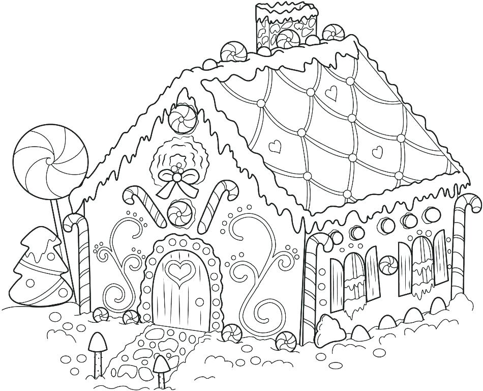 950x768 Gingerbread House Coloring Page Gingerbread House Coloring Page