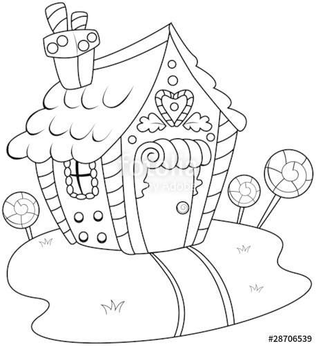 457x500 Line Art Candy House Stock Image And Royalty Free Vector Files