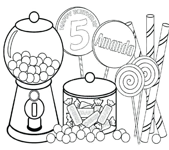 678x600 Unique Candy Coloring Pages For Gingerbread House Candy Coloring