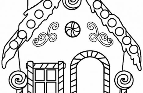 469x304 Candy House Coloring Pages For Boys Just Colorings