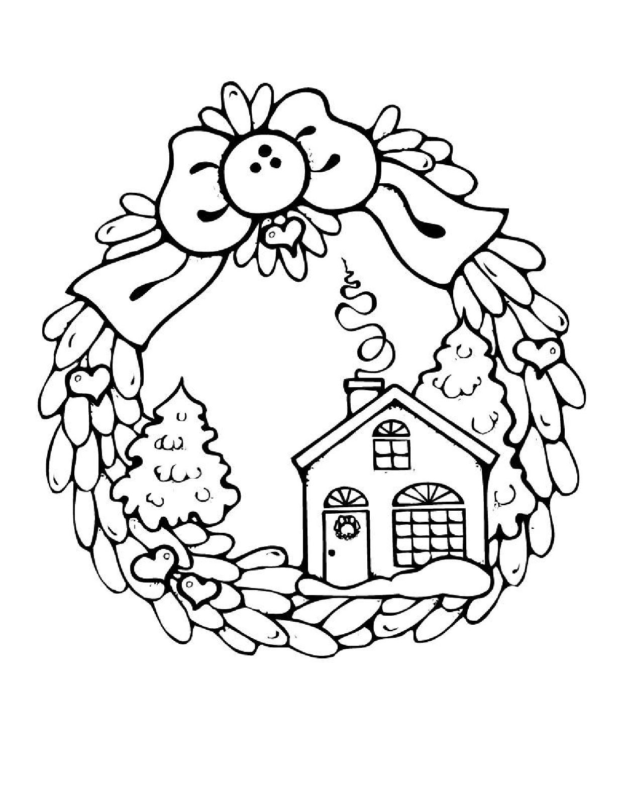 1240x1605 Christmas Houses Coloring Pages Candy House Coloring Page