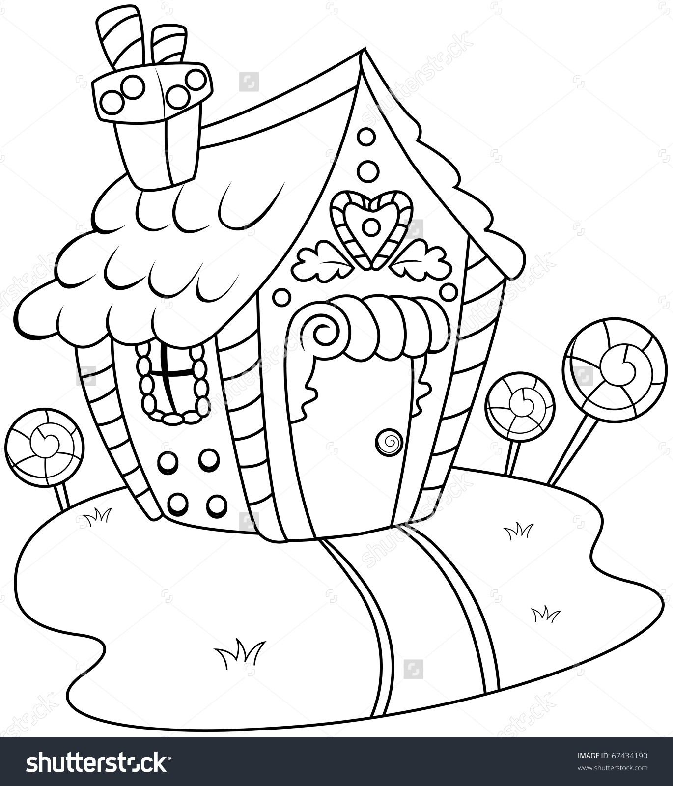 1370x1600 Gingerbread Man And House Coloring Page Free Draw To Color