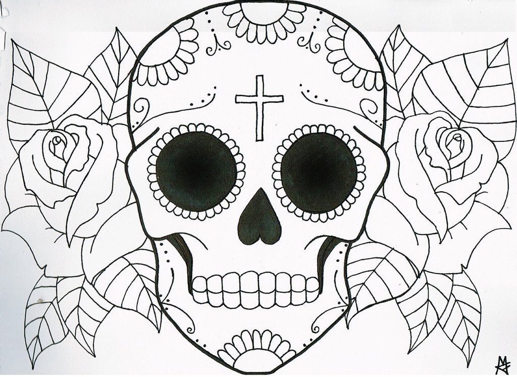 1024x747 How To Draw A Flower Skull Howsto.co