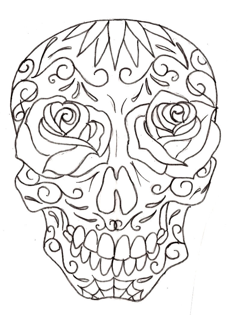 758x1046 Sugar Skull Designs Coloring Pages