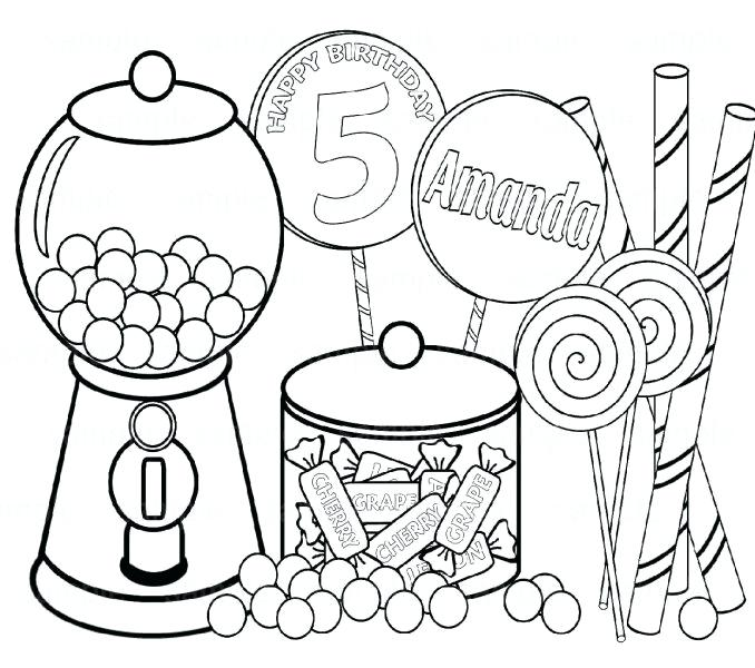 678x600 Candy Coloring Pages Candy Coloring Pages Of Candy Free Coloring