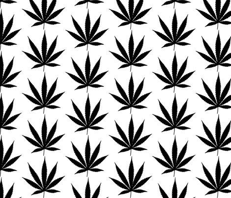 Cannabis Leaf Drawing