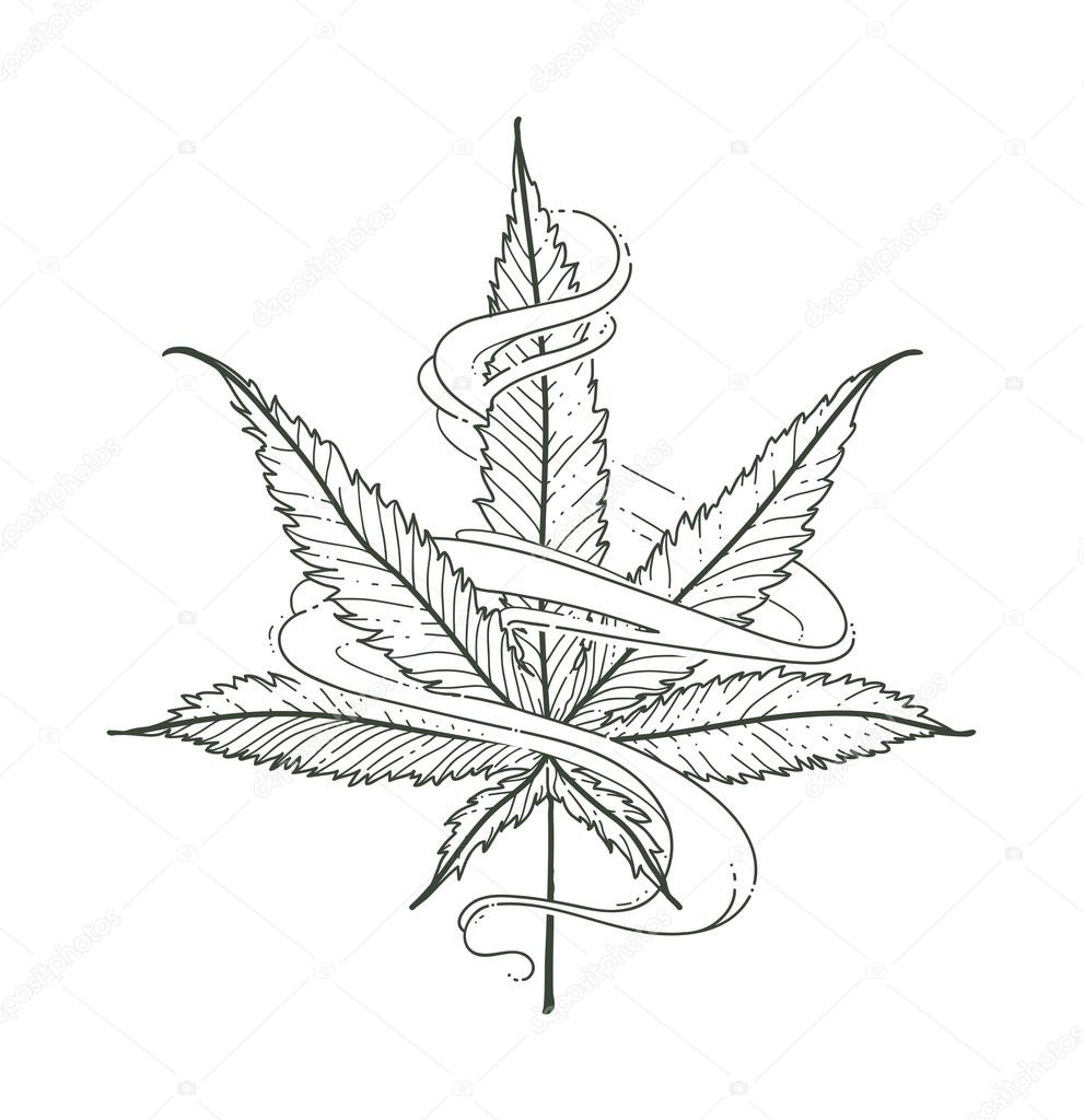 991x1024 Vector Marijuana Leaf Stock Vector Vecster