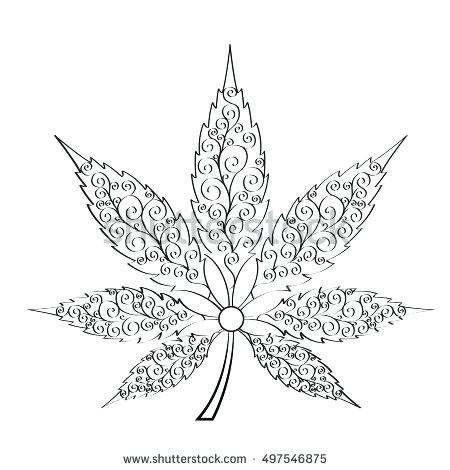 450x470 Cannabis Coloring Book As Well As Hemp Cannabis Leaf In Style