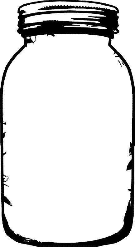 433x791 Clip Art Large Clamp Mason Jar (Click For More Jar Images