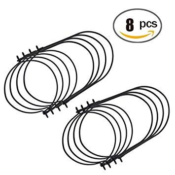 355x355 Admoz Black Wire Handles For Mason, Jars, Ball, Canning Jars (8