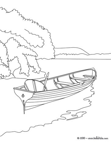364x470 Canoe On The River Coloring Pages