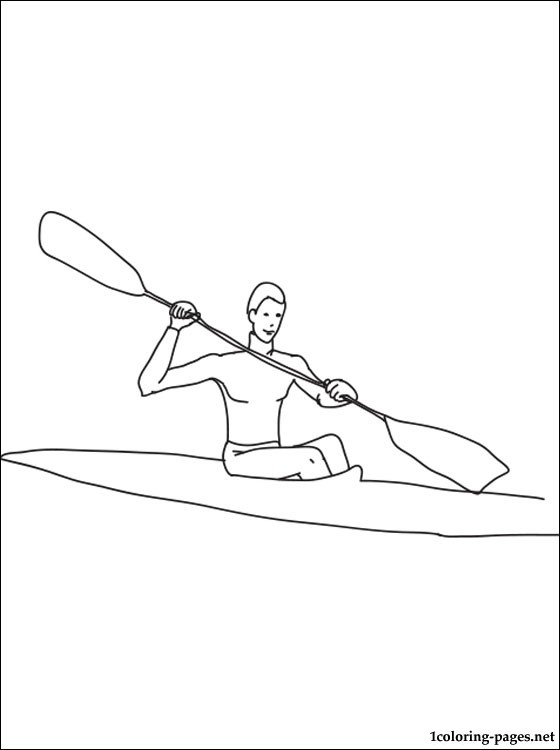560x750 Canoe Sprint Coloring Page Coloring Pages