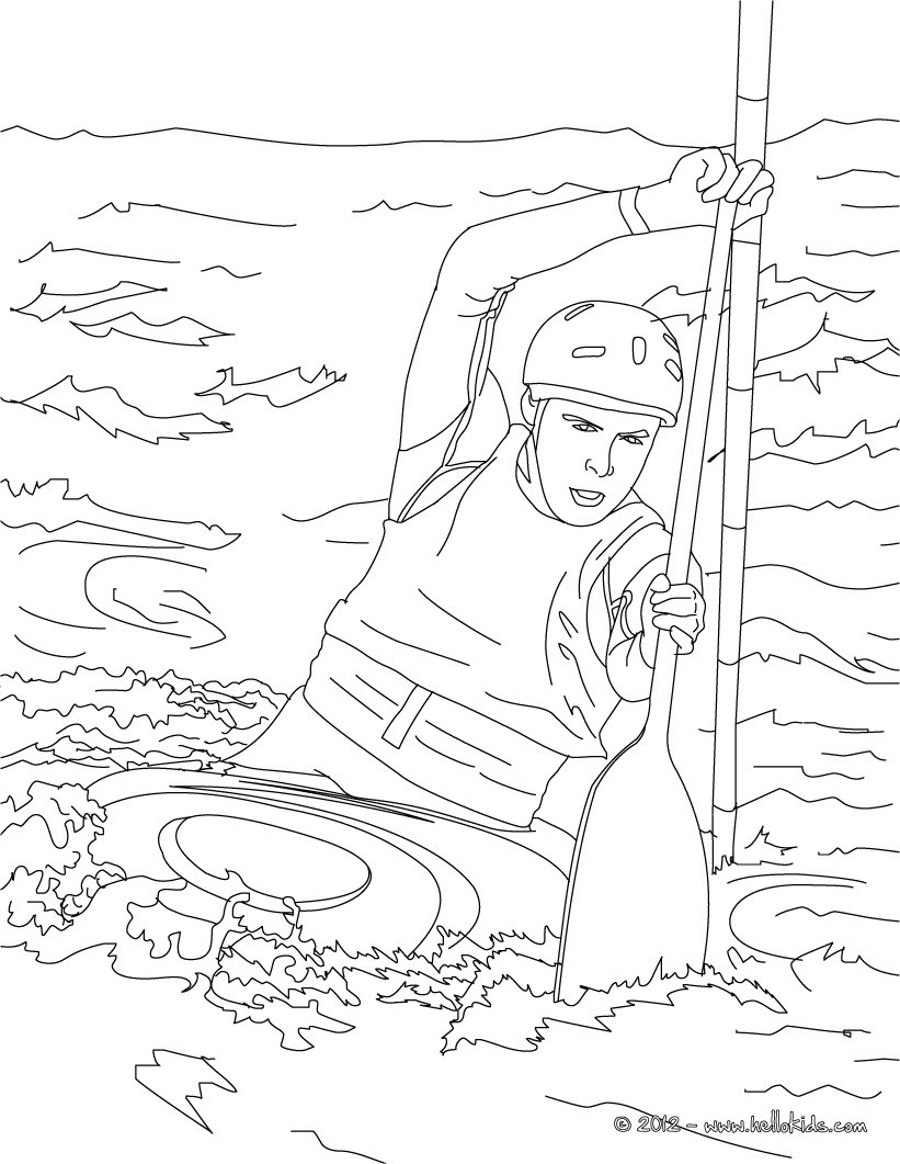 821x1061 This Canoe Kayak Coloring Page Is Available For Free On Hellokids
