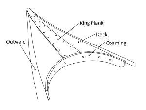 300x225 How To Repair A Long Framed Veneer Deck In An Antique Canoe