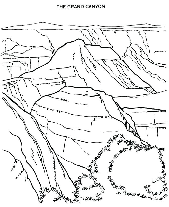 670x820 Memorial Coloring Page Grand Canyon National Park Gra Murs
