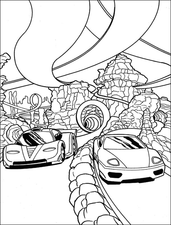 600x790 Race Coloring Pages Car Race In Grand Canyon Coloring Page