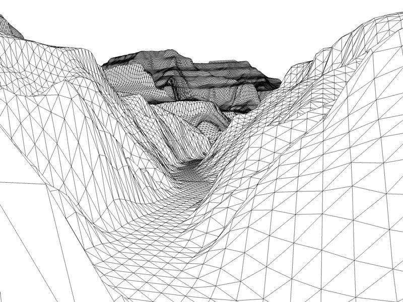 800x600 The Grand Canyon In Arizona United States Low Poly 3d Model 3d