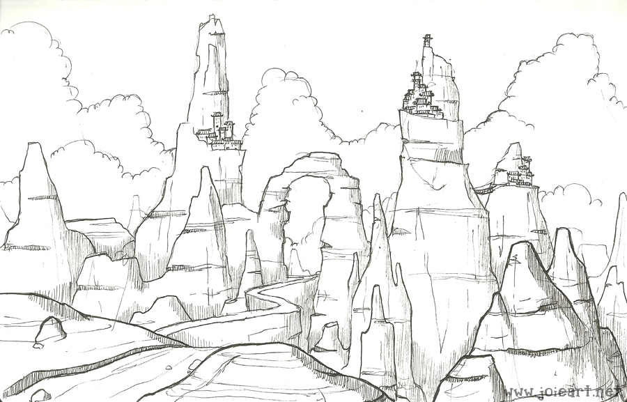 900x577 Canyon City By Joieart