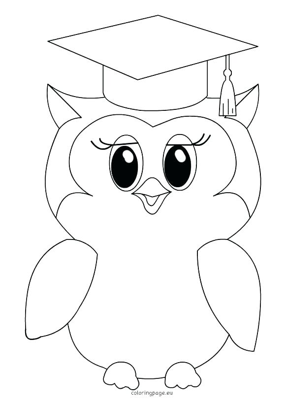 581x822 Classy Graduation Coloring Pages Fee Cap Page Child With And Gown