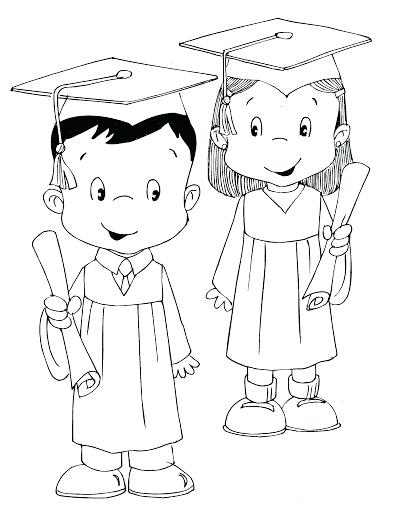 395x512 Graduation Coloring Pages To Print How Draw Diploma And Cap Color