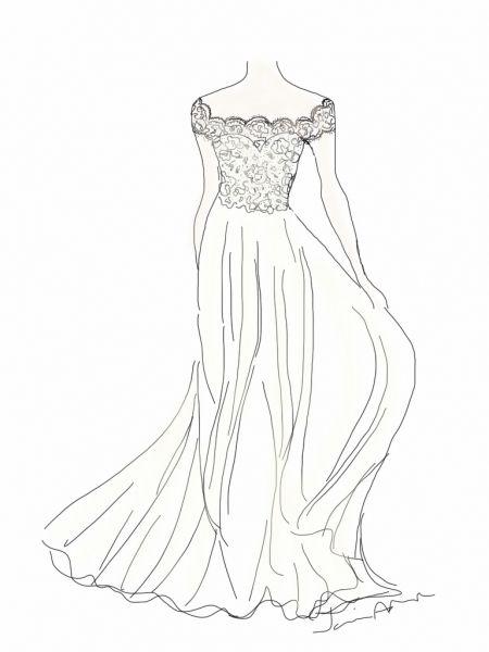 450x600 Kate Wedding Dress Design By Janine Adamyk In Fresh Flowing