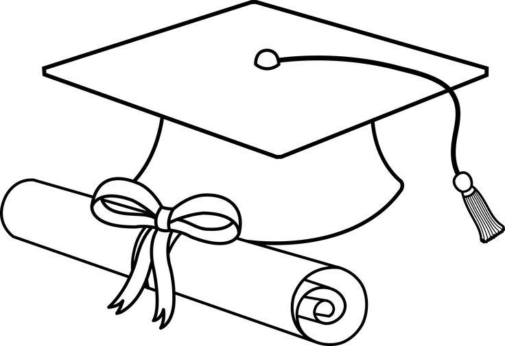 736x505 Cap And Gown Drawing