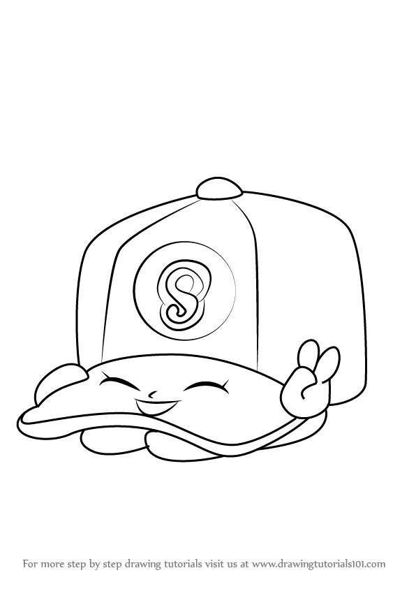 596x843 Learn How To Draw Casper Cap From Shopkins (Shopkins) Step By Step