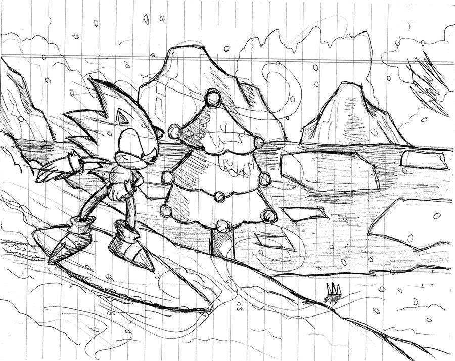 900x714 Sonic 3 Ice Cap Zone =sketch= By Krizeii