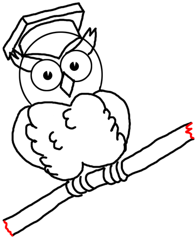400x491 Step 15 Drawing Comic Cartoon Owls With Graduation Cap