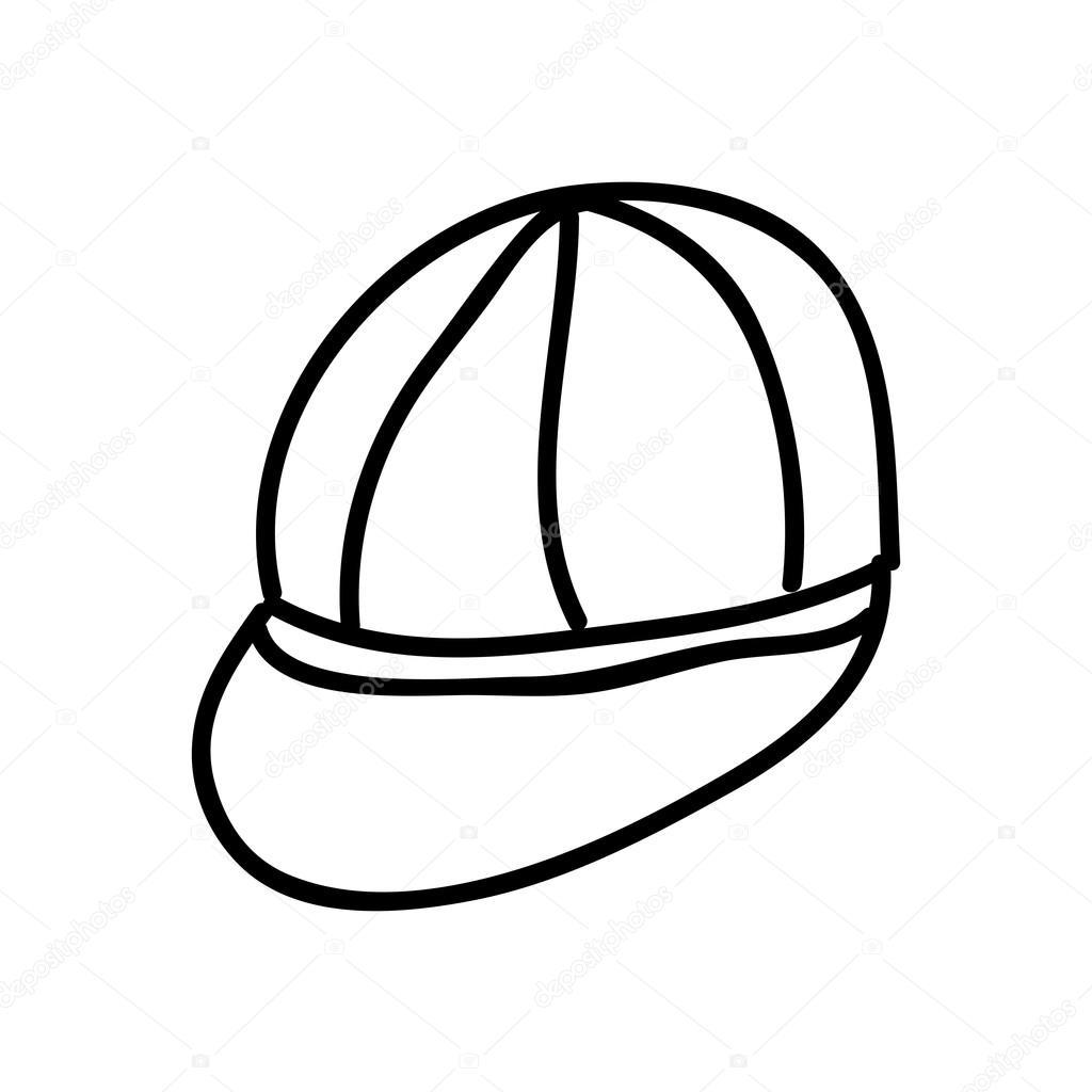1024x1024 Cap Drawing Isolated Icon Design Stock Vector Yupiramos