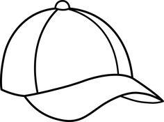 236x175 Caps Images Color Pages Baseball Cap Line Art