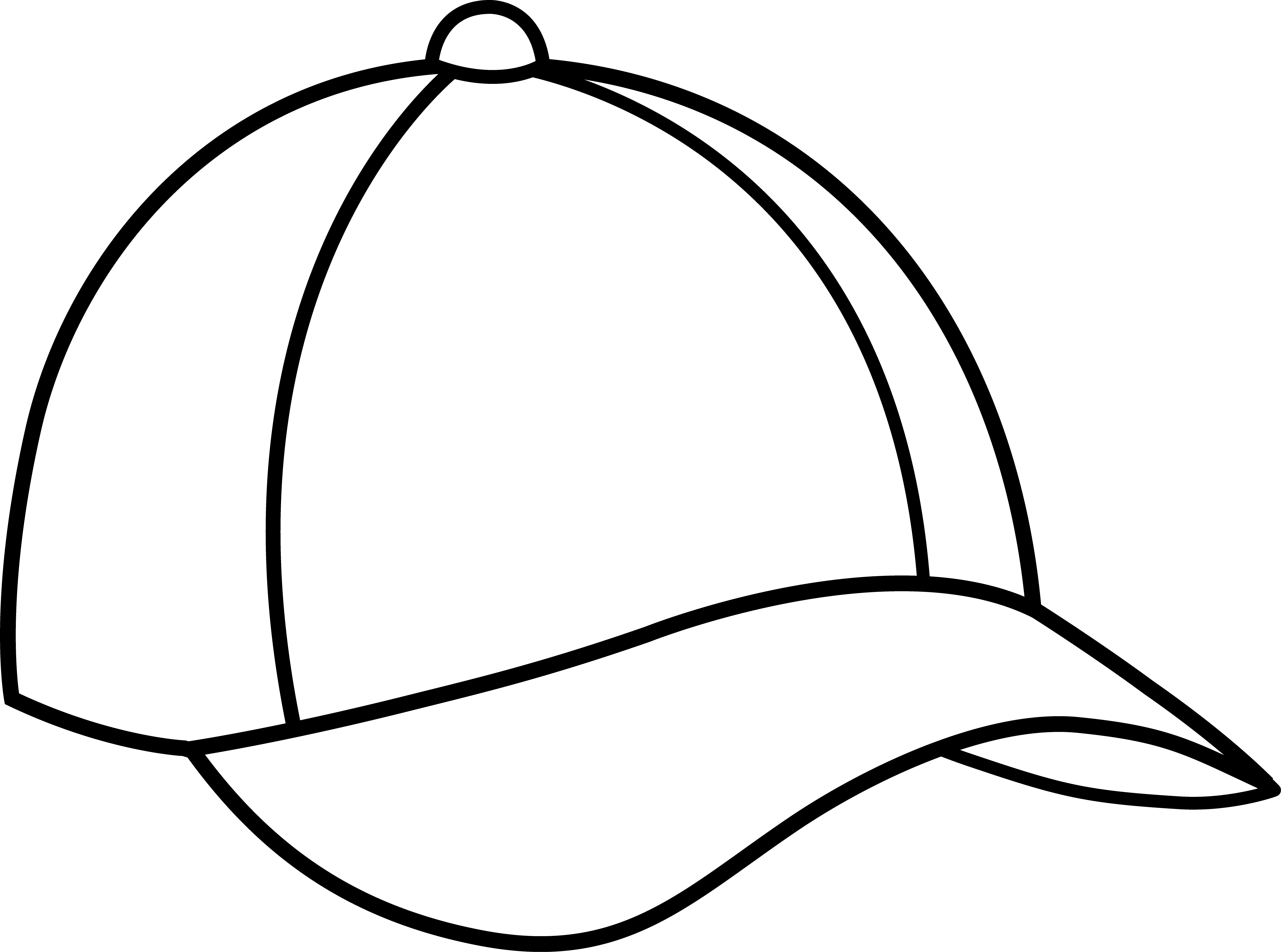 5406x4019 Baseball Cap Line Art