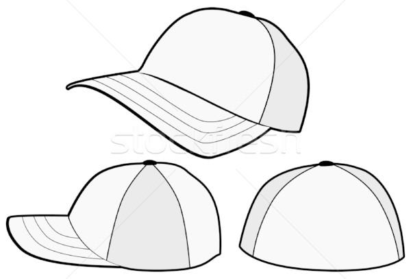 600x407 Baseball Cap Or Hat Vector Template Design. Vector Illustration