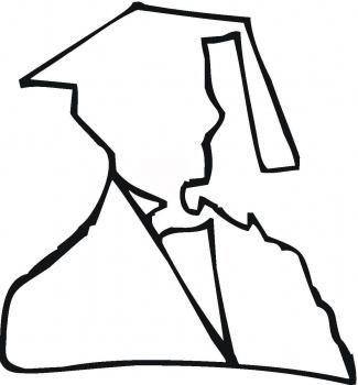 325x350 Graduation Cap Outline