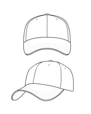 304x380 How To Draw A Baseball Hat
