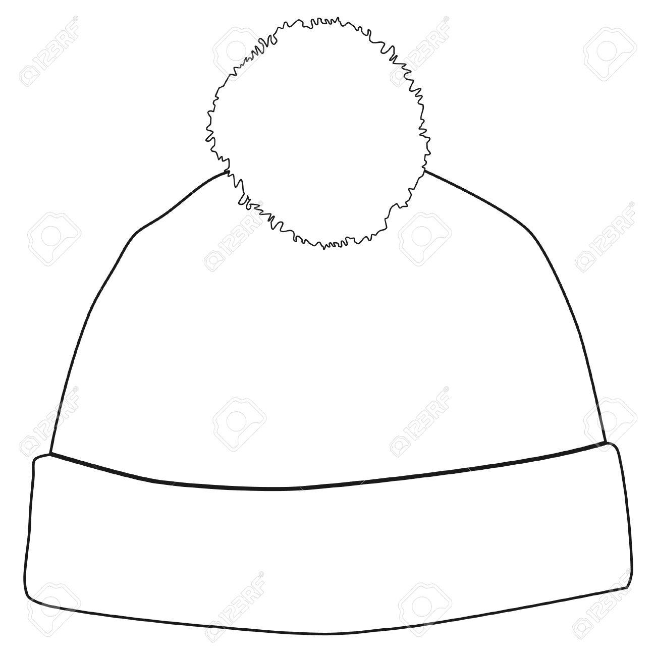1300x1300 Winter Hat With White Pompom Raster Isolated, Snowboarding Hat