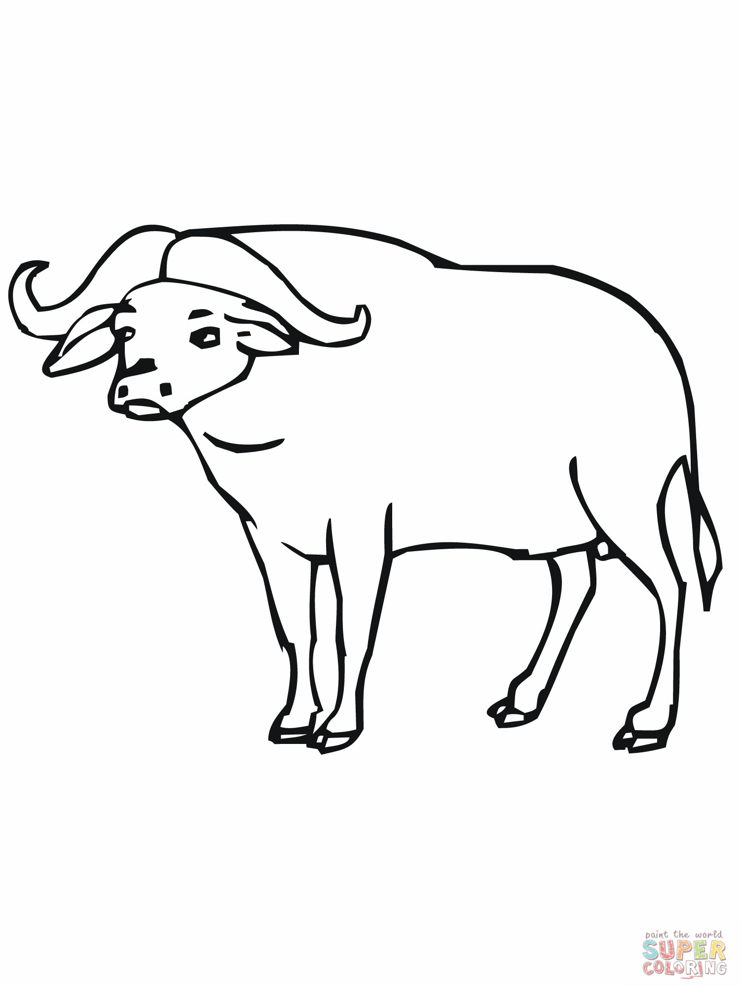 Cape Buffalo Coloring Pages - Master Coloring Pages