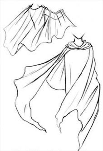 411x599 Cape Reference Clothing Cape, Drawings And Drawing