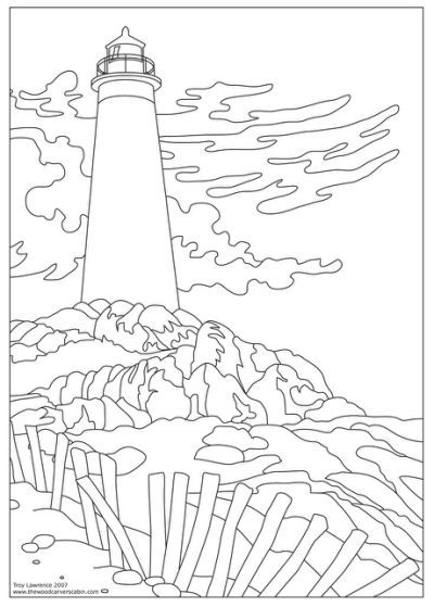 400x559 Lighthouse Coloring Pages For Adults