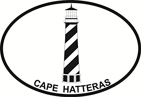 463x319 Cape Hatteras Lighthouse Euro Oval Bumper Sticker