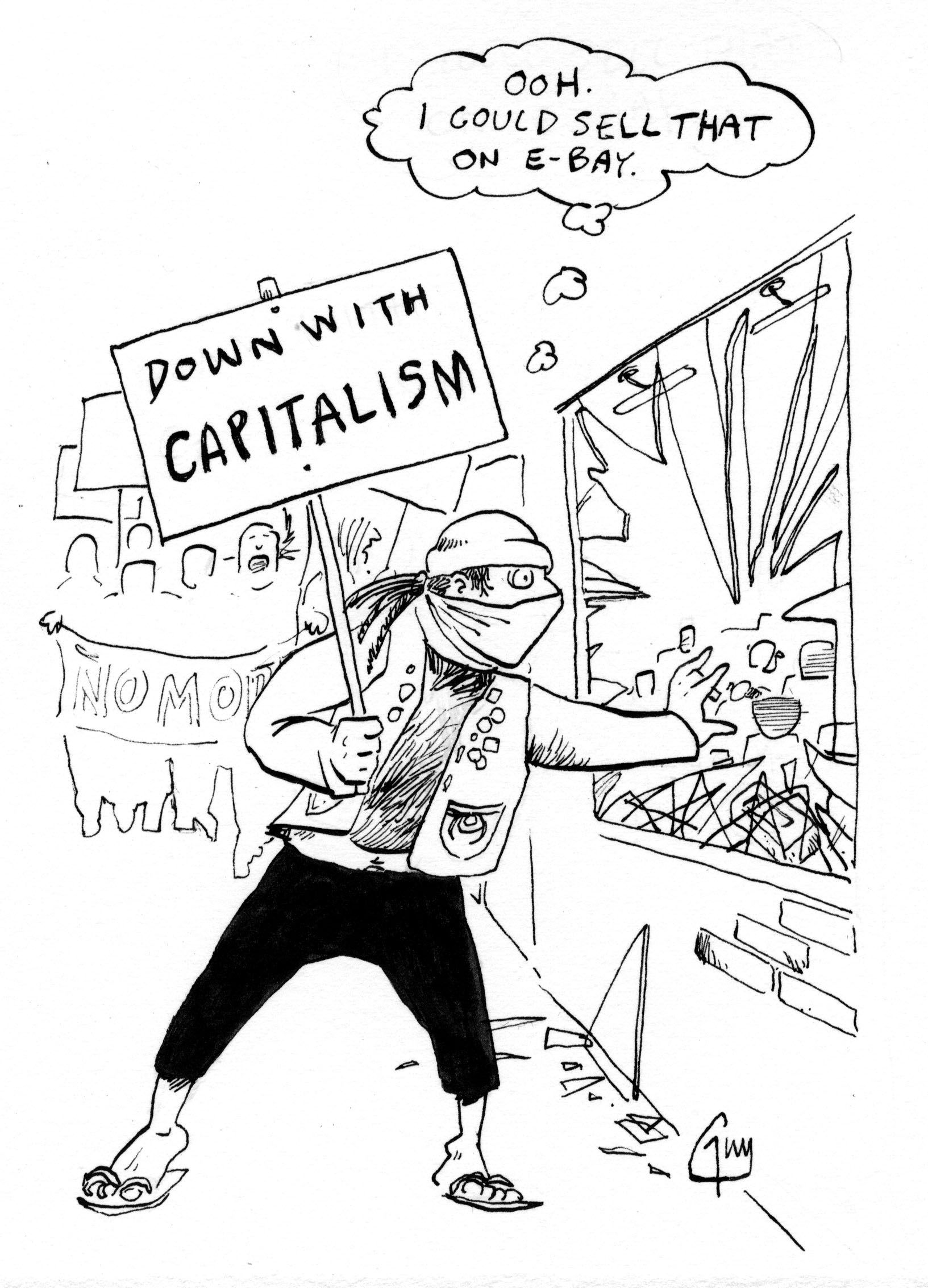 1633x2266 Down With Capitalism! Belly Laughs, Cartoon And Humor
