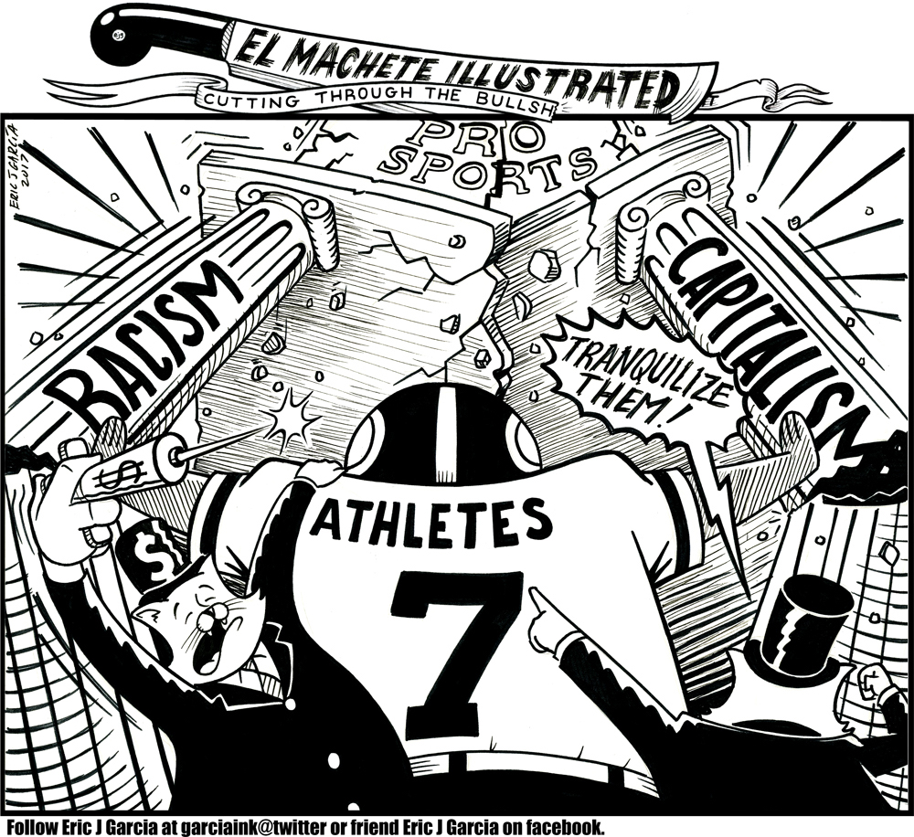 1000x916 When Capitalism Met Racism Pro Sports! (Toon) Pocho