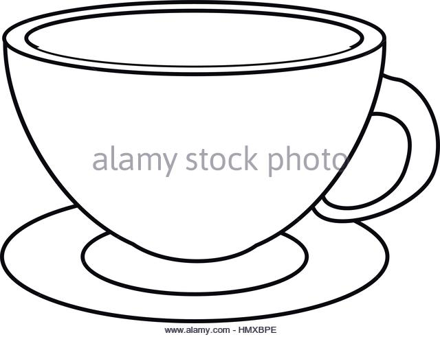 640x491 Drawing Cup Hot Coffee Sugar Stock Photos Amp Drawing Cup Hot Coffee