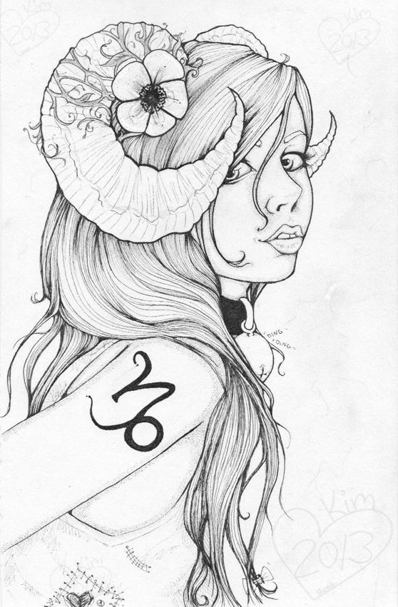 558x851 Capricorn Girl Capree By Foux