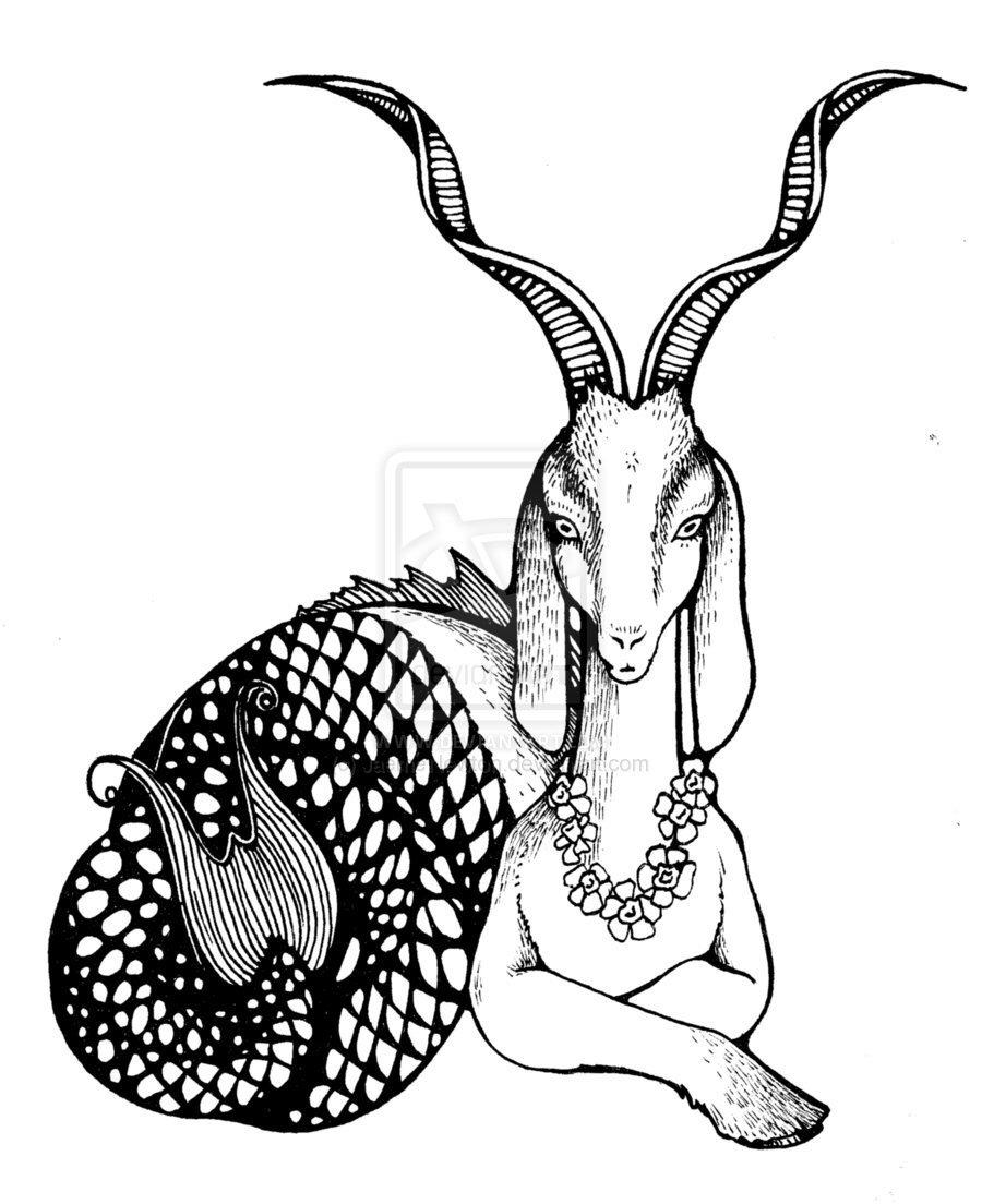 900x1104 Capricorn Sea Goat That I Desperately Want As A Tattoo! Barbie