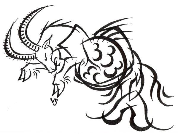 600x453 Capricorn Tribal Tattoo By Sybil