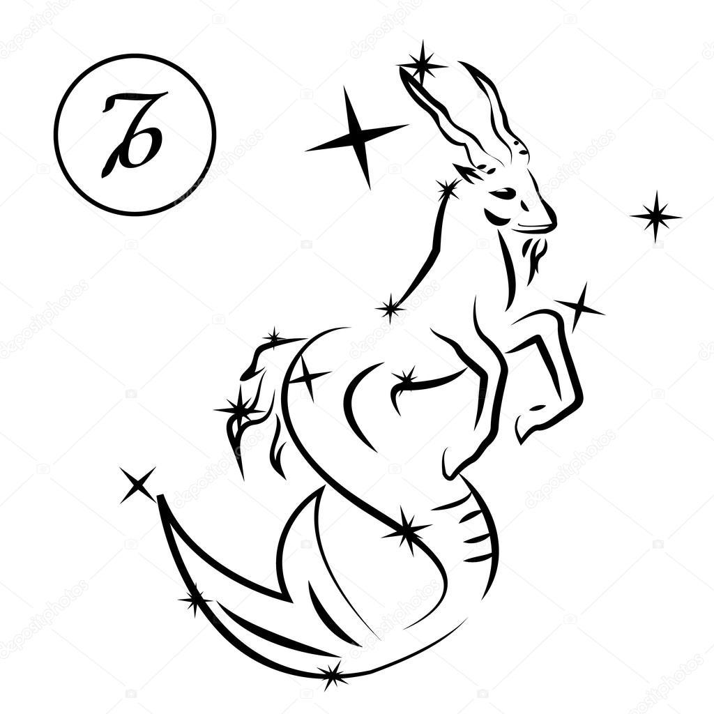 1024x1024 Capricorn Zodiac Sign Stock Vector Oko.laa