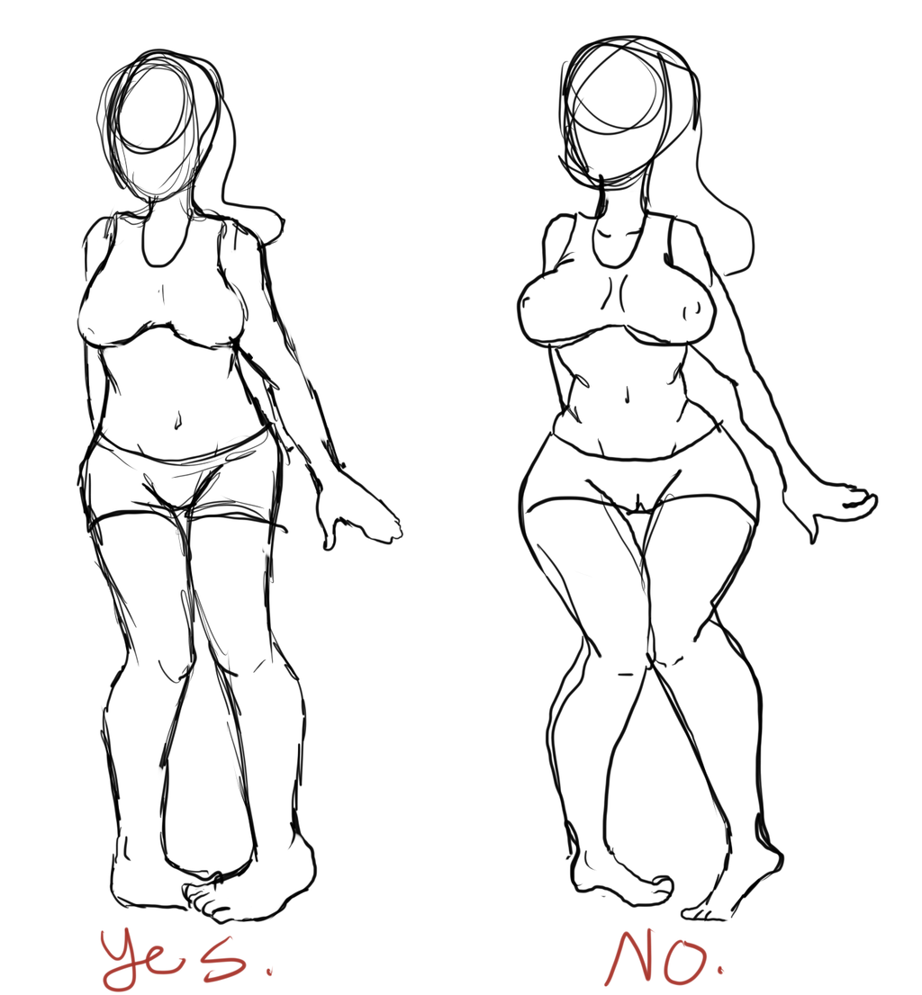 1024x1106 A Guide To Drawing A Thin Female With A Large Bust By Tomato