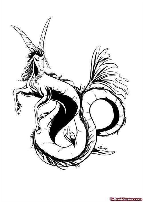 500x707 Beautiful Capricorn Tattoo Design Tattoo